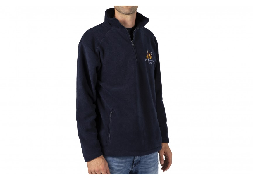 Fleece men (short zip)